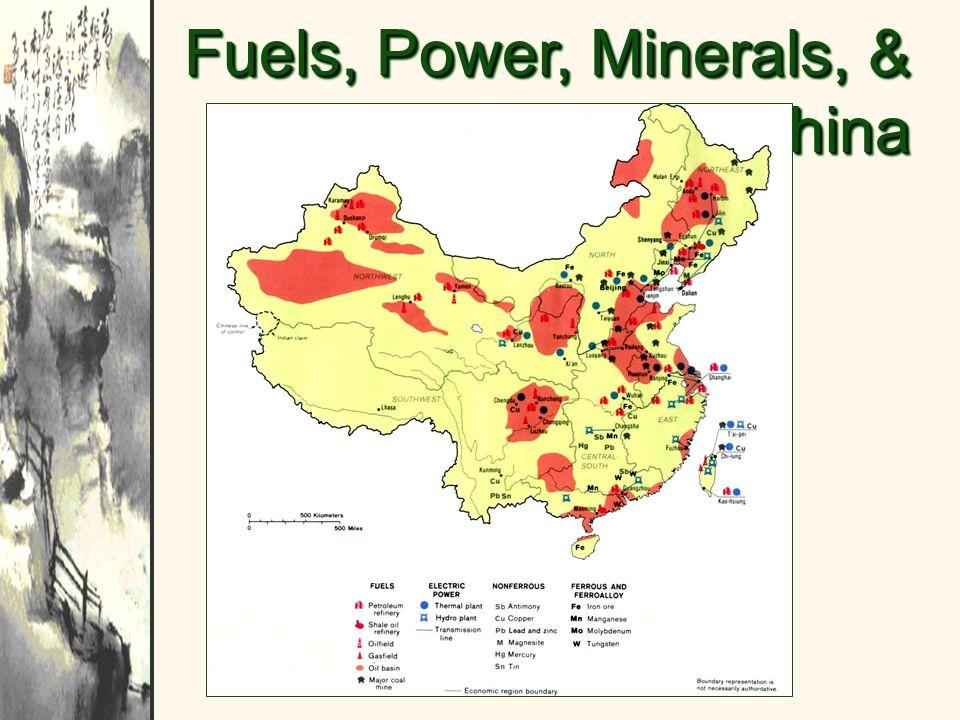Fuels, Power, Minerals, & Metals in China