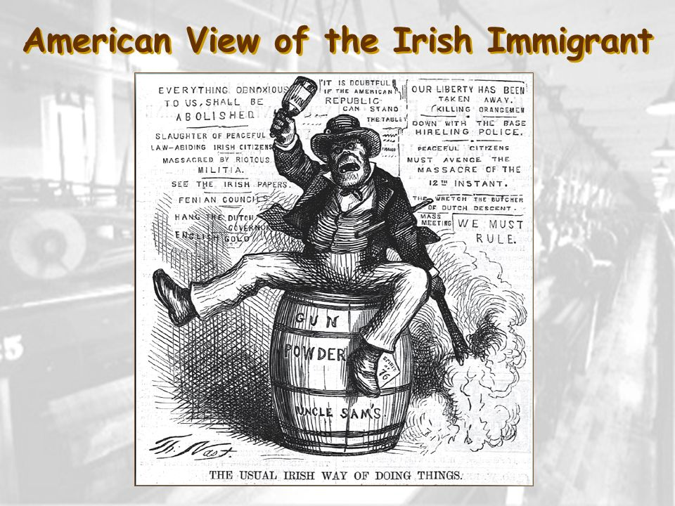 American View of the Irish Immigrant