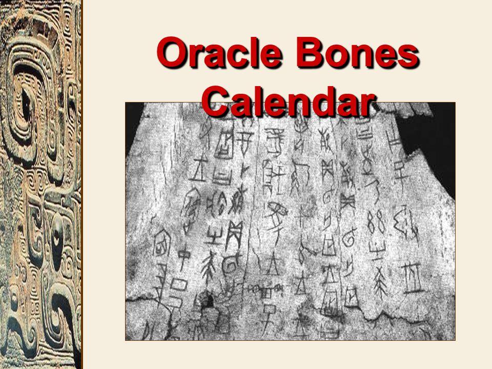 Oracle Bones Calendar