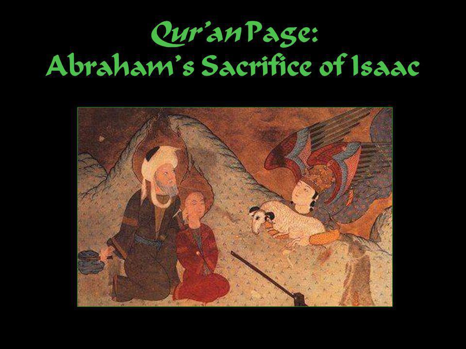Quran Page: Abrahams Sacrifice of Isaac