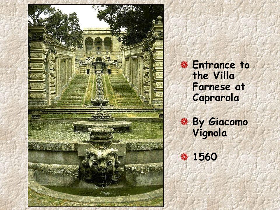 ¬ Entrance to the Villa Farnese at Caprarola ¬ By Giacomo Vignola ¬ 1560