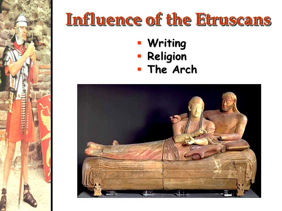 Influence of the Etruscans Writing Writing Religion Religion The Arch The Arch