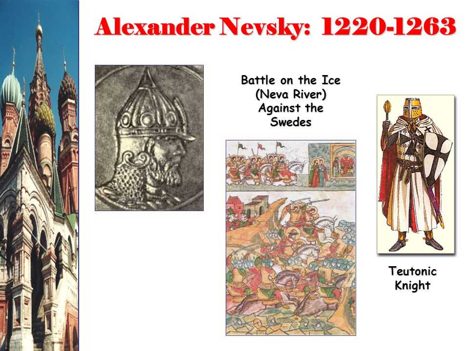 Alexander Nevsky: 1220-1263 Battle on the Ice (Neva River) Against the Swedes Teutonic Knight