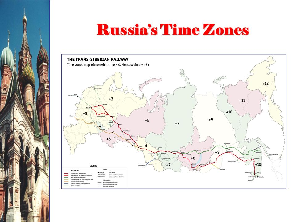 Russias Time Zones