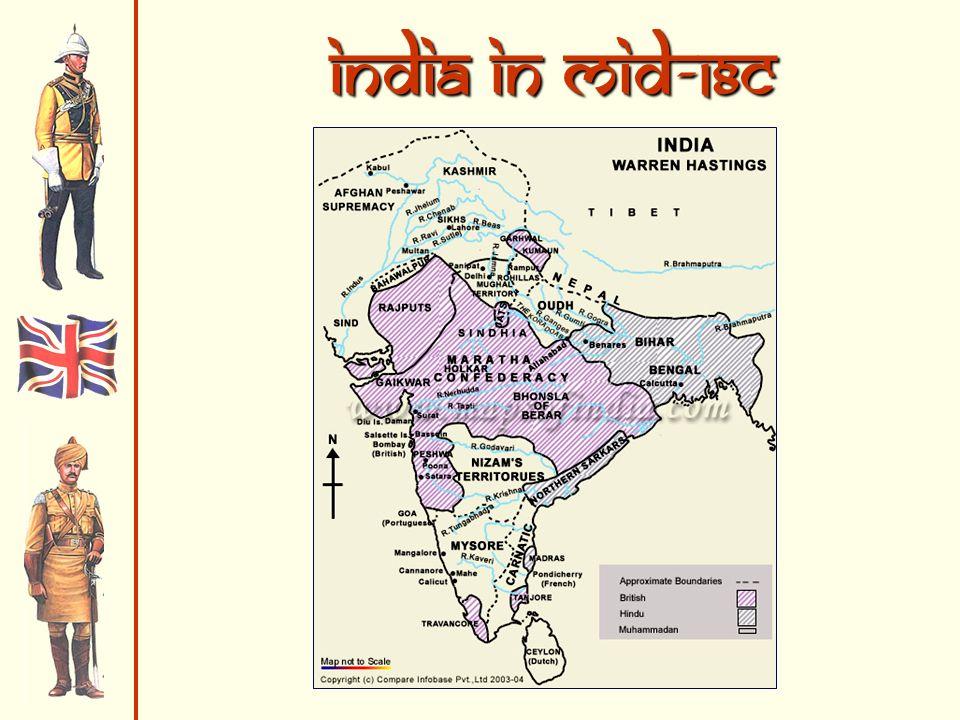 India in mid-18c