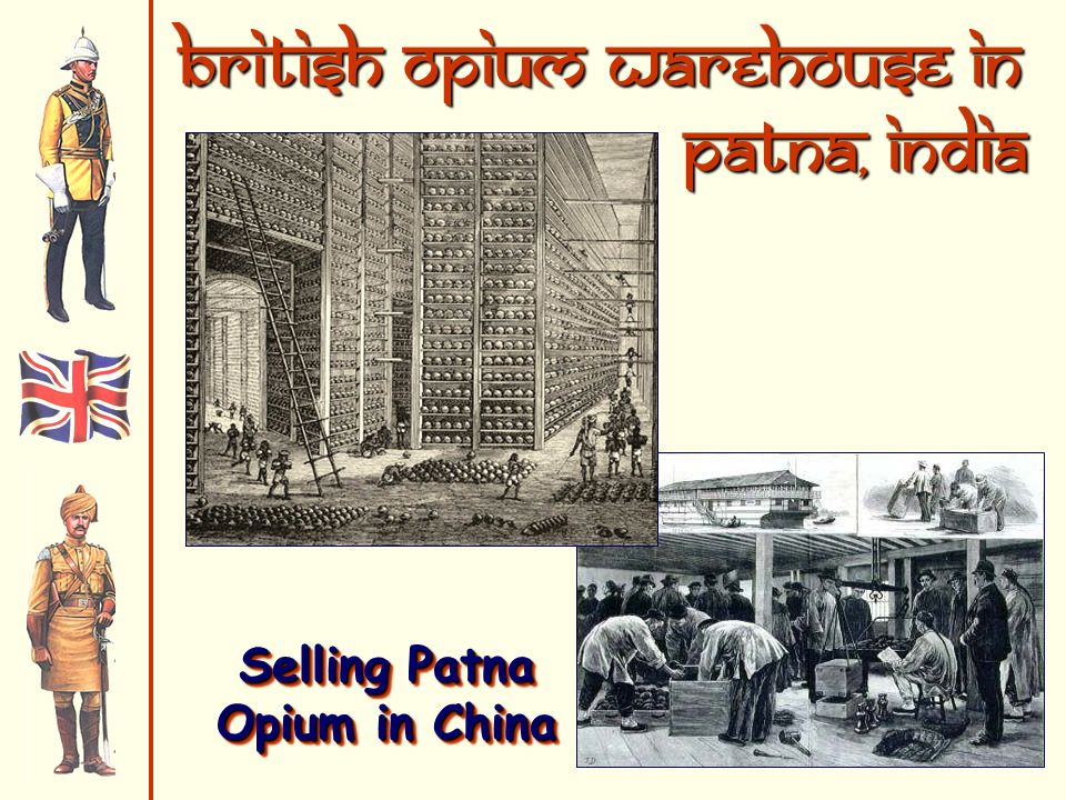 British Opium Warehouse in Patna, India Selling Patna Opium in China