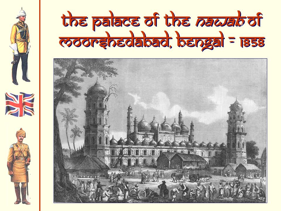 The Palace of the Nawab of Moorshedabad, Bengal - 1858