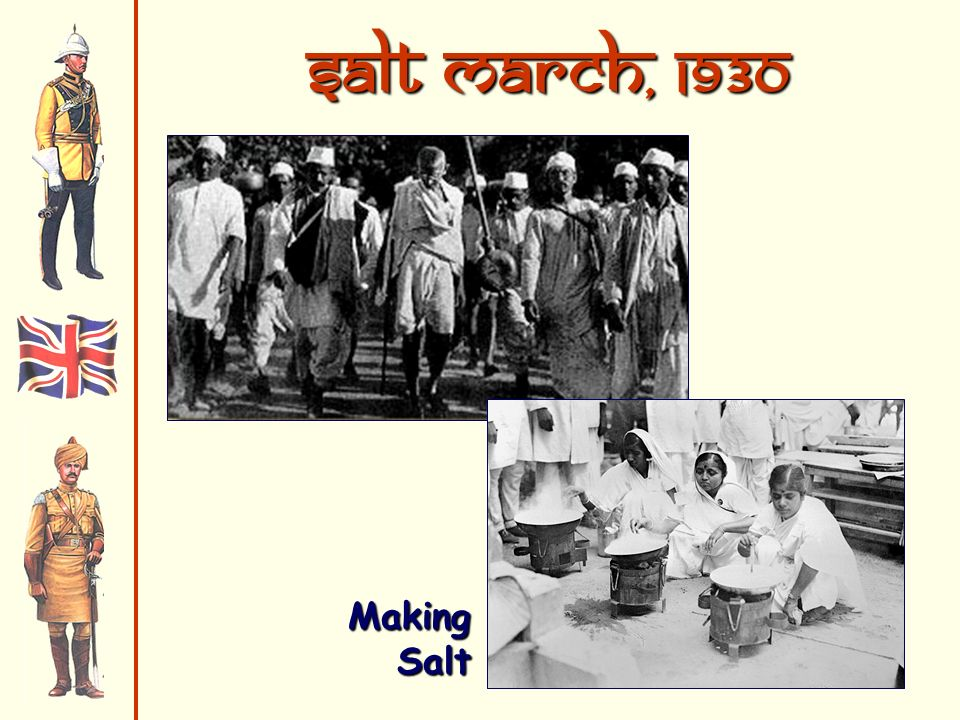 Salt March, 1930 Making Salt