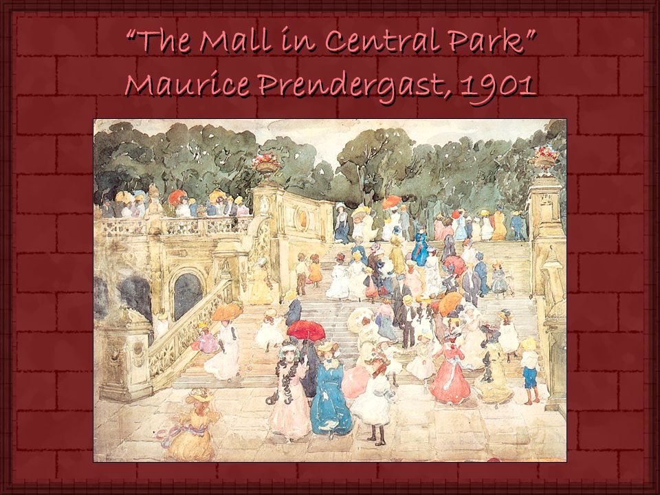 The Mall in Central Park Maurice Prendergast, 1901