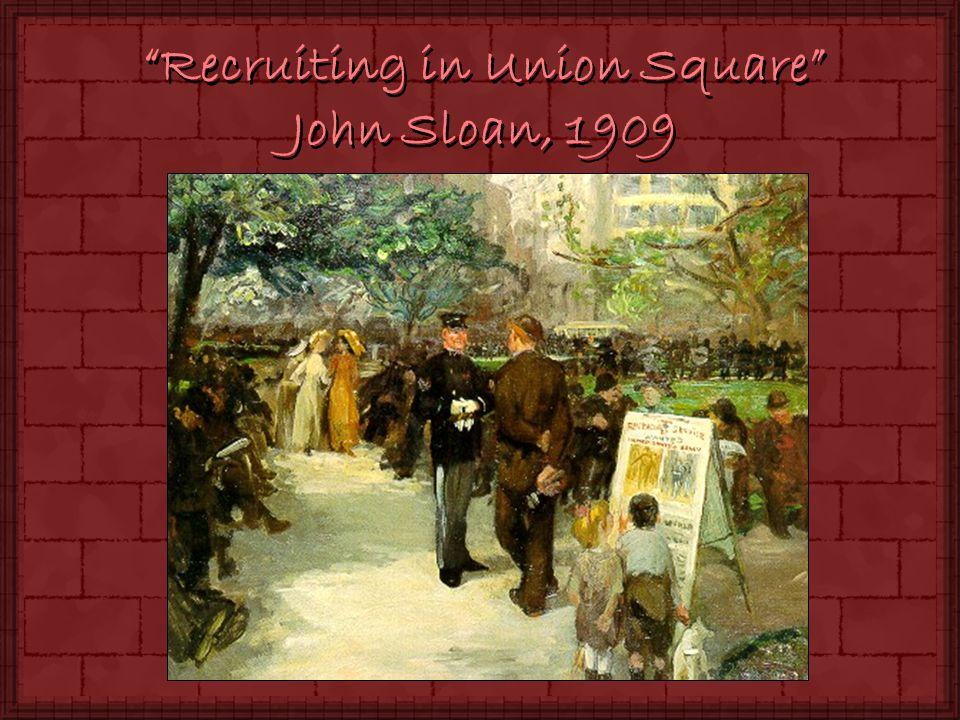 Recruiting in Union Square John Sloan, 1909
