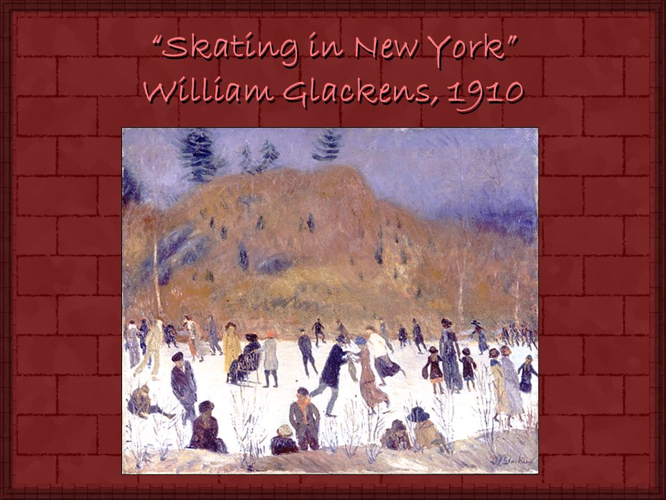 Skating in New York William Glackens, 1910