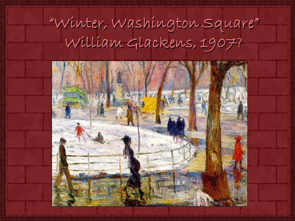 Winter, Washington Square William Glackens, 1907