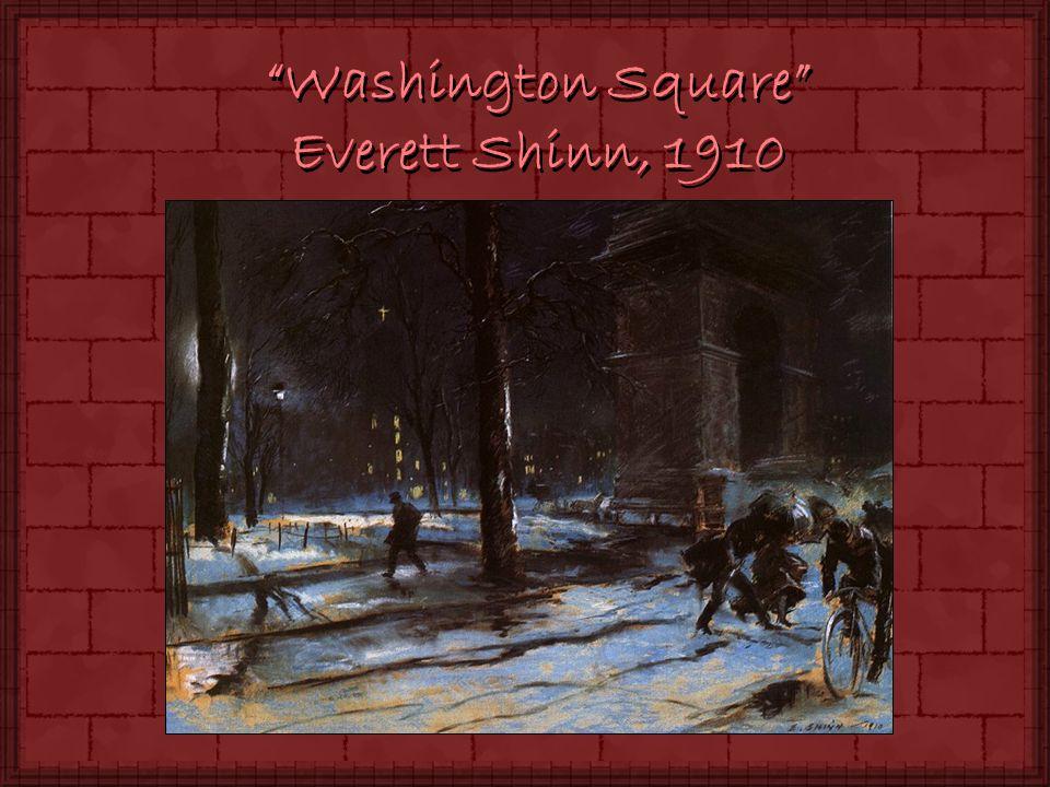 Washington Square Everett Shinn, 1910