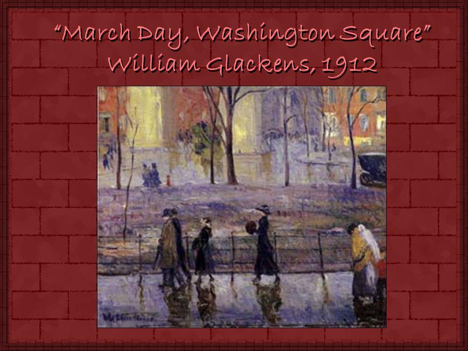 March Day, Washington Square William Glackens, 1912
