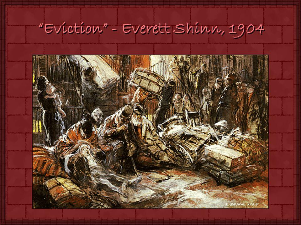 Eviction - Everett Shinn, 1904