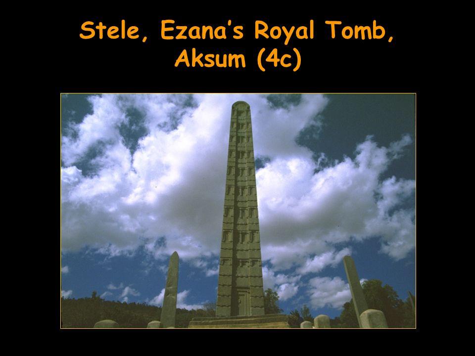 Stele, Ezanas Royal Tomb, Aksum (4c)