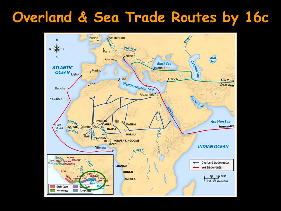 Overland & Sea Trade Routes by 16c