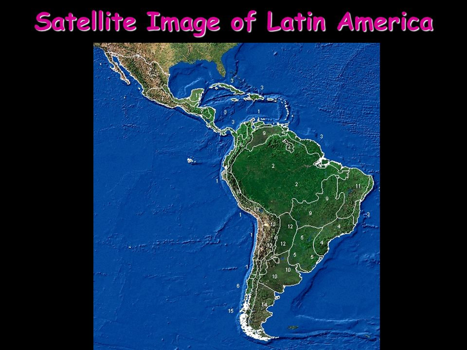 Satellite Image of Latin America