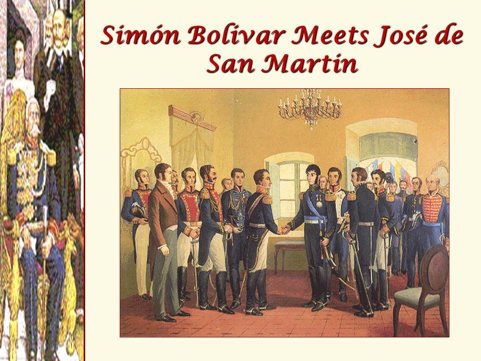 Simón Bolivar Meets José de San Martin