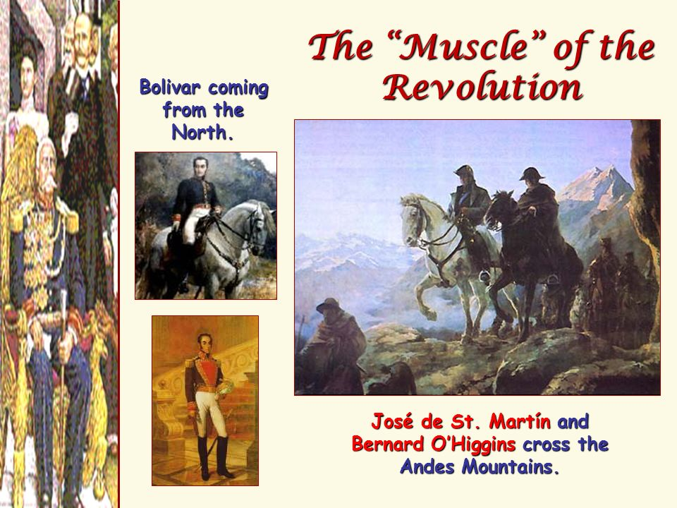 The Muscle of the Revolution Bolivar coming from the North.