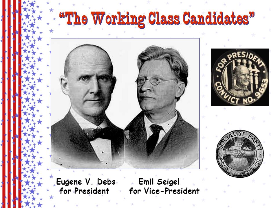 The Socialist Party & Eugene V. Debs The issue is Socialism versus Capitalism.