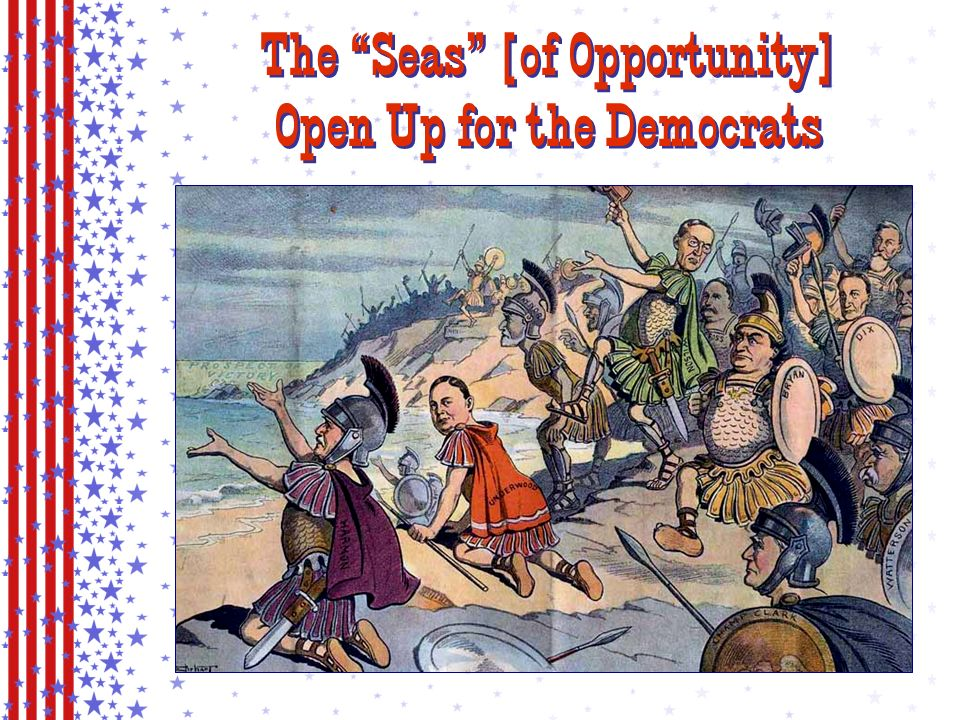Democratic Party Platform Government control of the monopolies trusts in general were bad eliminate them!.