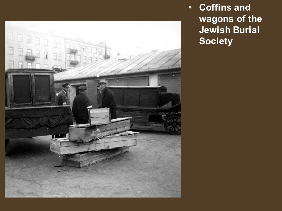 Coffins and wagons of the Jewish Burial Society