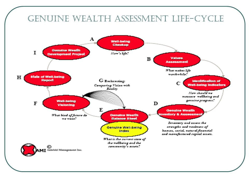 Genuine Wealth Assessment Life-cycle