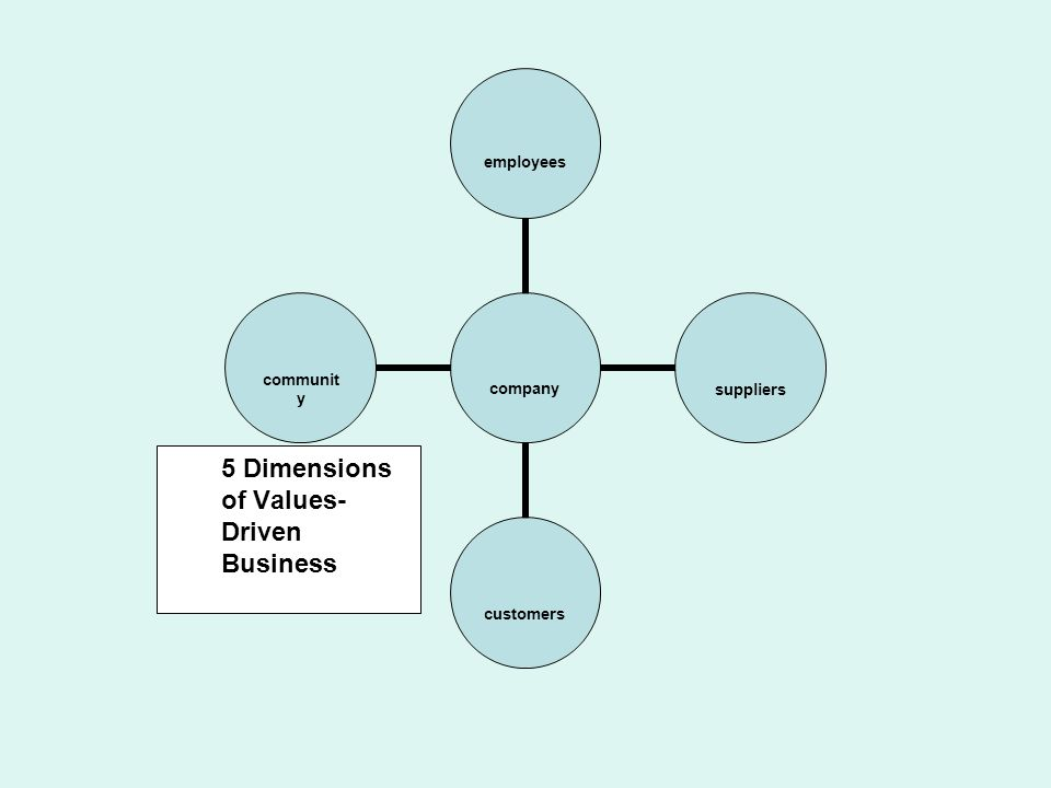5 Dimensions of Values- Driven Business