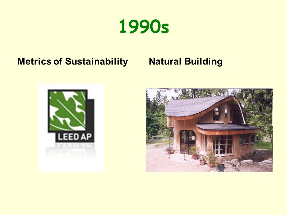 1990s Metrics of SustainabilityNatural Building