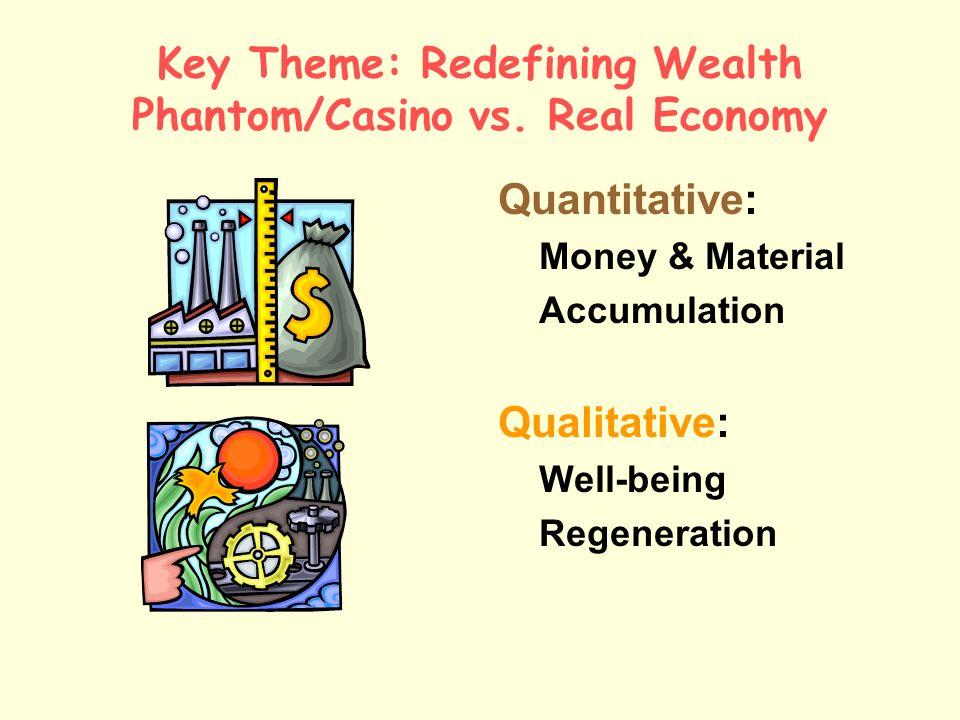Key Theme: Redefining Wealth Phantom/Casino vs.