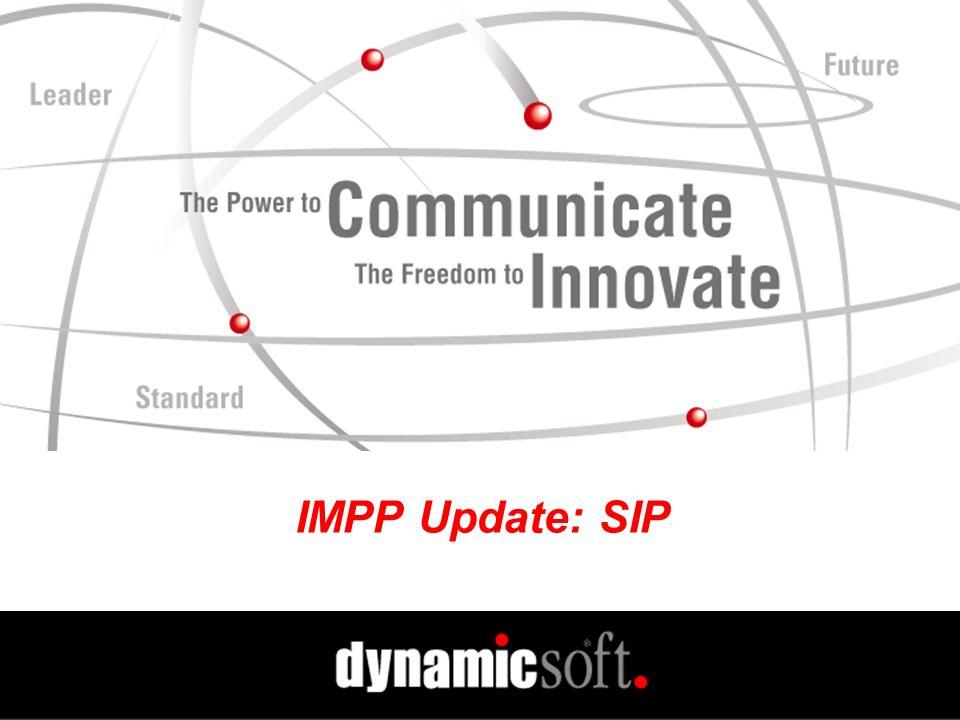 IMPP Update: SIP