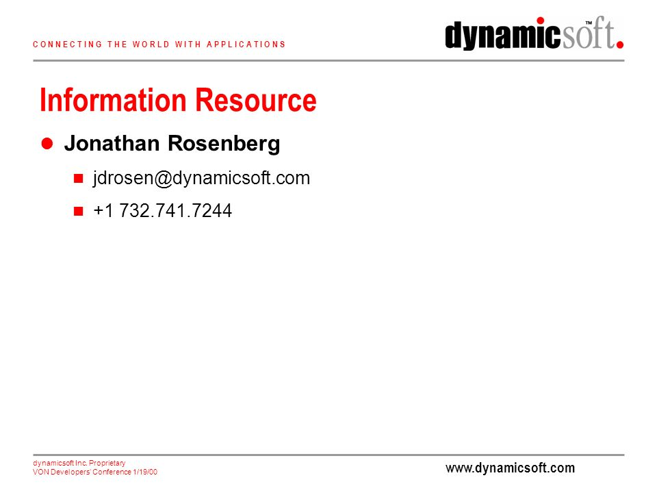 dynamicsoft Inc.