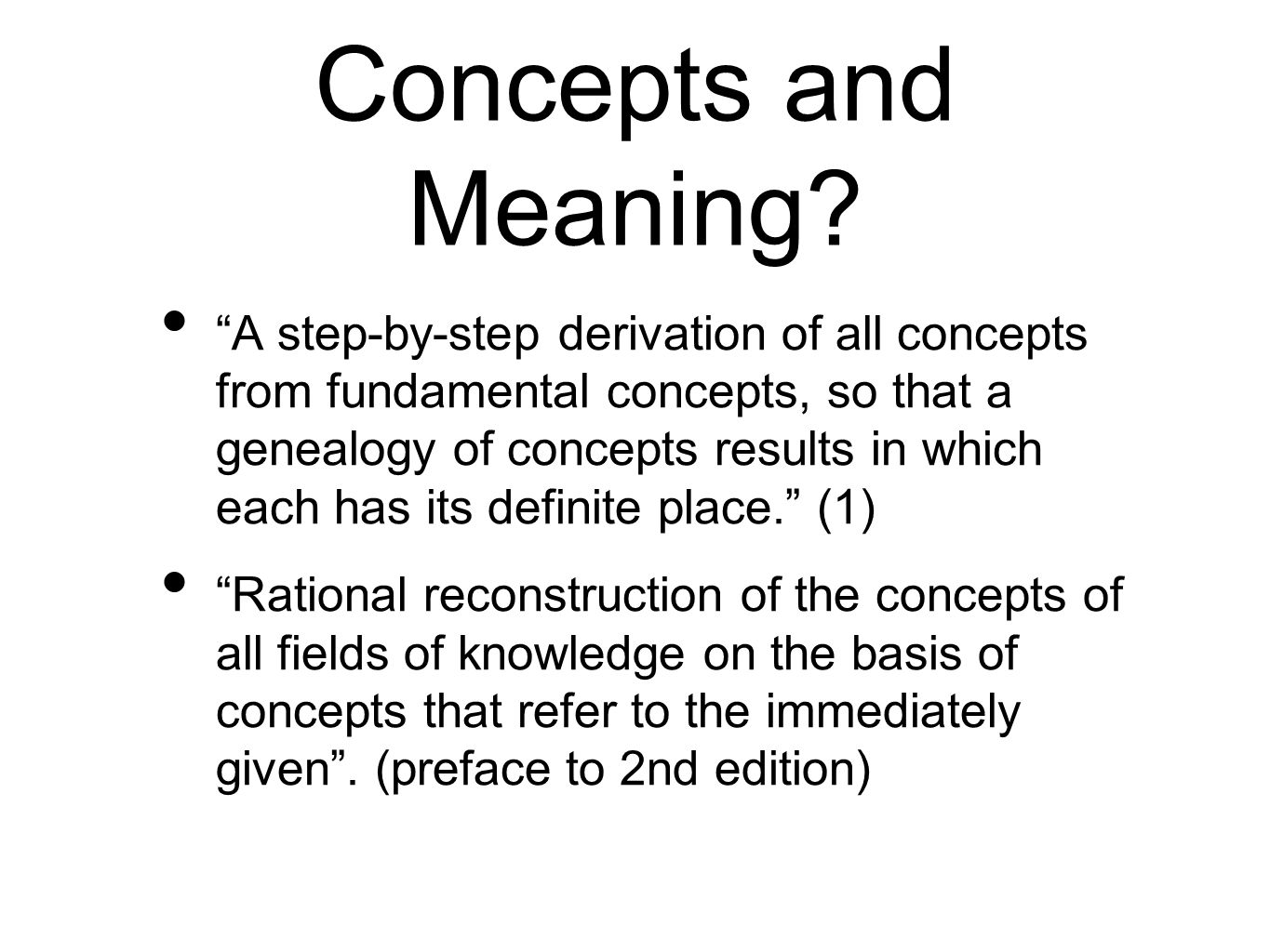 Concepts and Meaning.