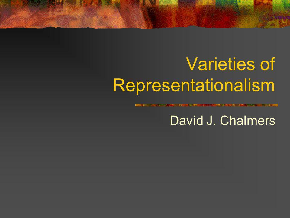 Internalist and Externalist Representationalism Phenomenal properties are often thought to be narrow Representational properties are often thought to be wide Reactions: (i) deny representationalism (Block) (ii) hold that phenomenal properties are wide (Lycan, Dretske) (iii) hold that the relevant representational properties are narrow.