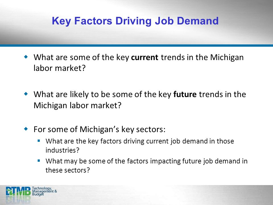What are some of the key current trends in the Michigan labor market.