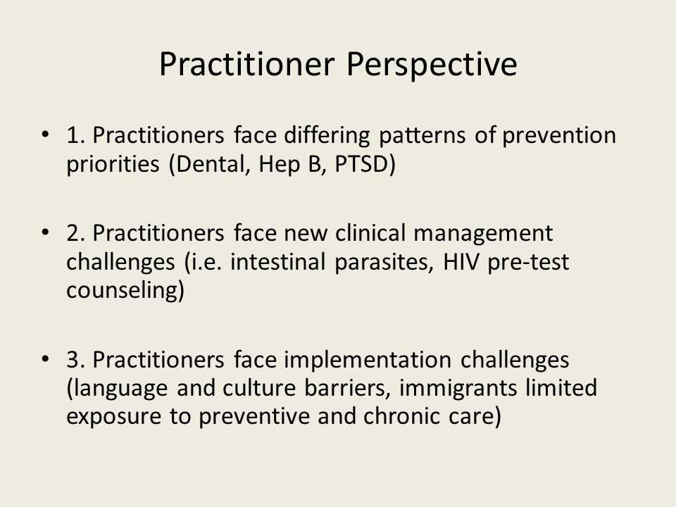 Practitioner Perspective 1.