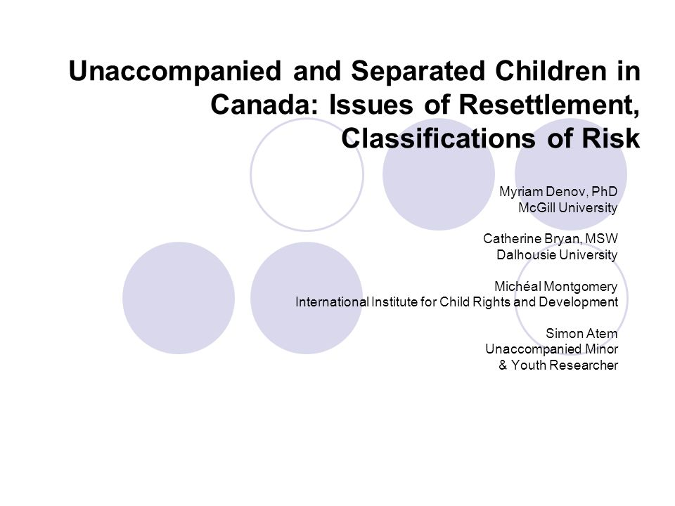 Policy-focused Suggestions Developing/improving programs and services that enable these youth to achieve their goals and maximize their potential Education Safety Support Given the relatively small numbers of unaccompanied and separated children that enter Canada, Canada is in a unique position to develop and implement a holistic system which recognizes the uniqueness of each youth, supports them in their endeavors, and facilitates the kind of life they, the youth themselves, expect to have here.
