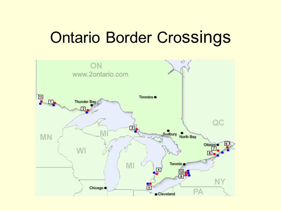 Ontario Border Cro ssings
