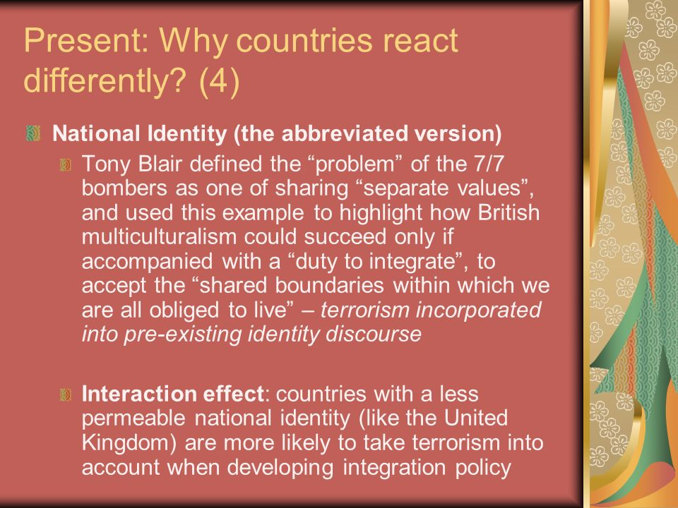 Present: Why countries react differently.