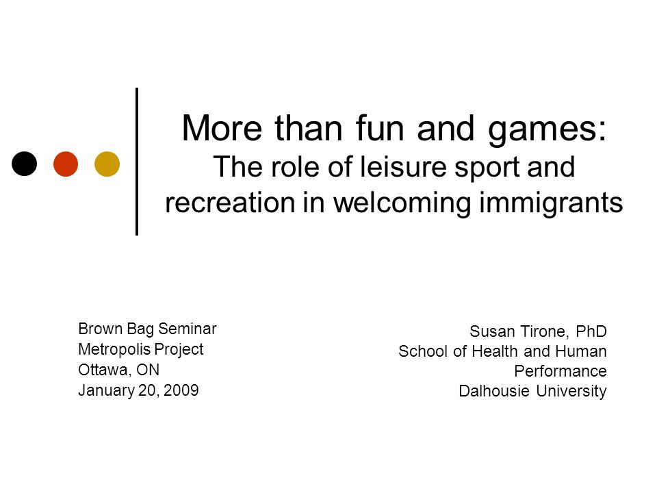 Findings Three themes Level of involvement Different perceptions and expectations Interest in inclusion Range of ideas about participation of newcomers in sports Responsibility for supporting newcomers in sports Range of ideas about leadership, direction & policy