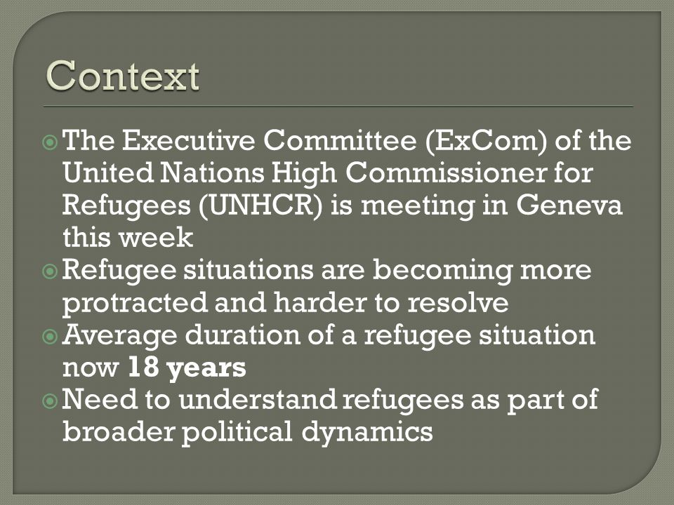 What are the core elements of the global refugee regime.