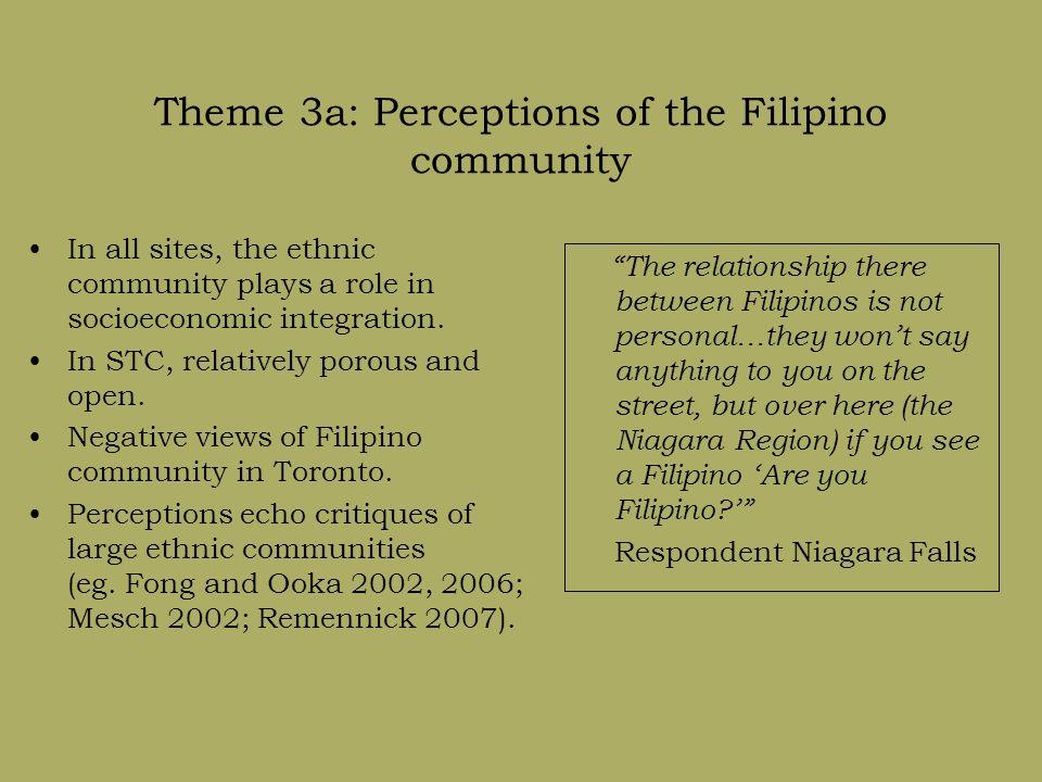 Theme 3b: The Filipino community in Toronto Negative experiences in gateway.