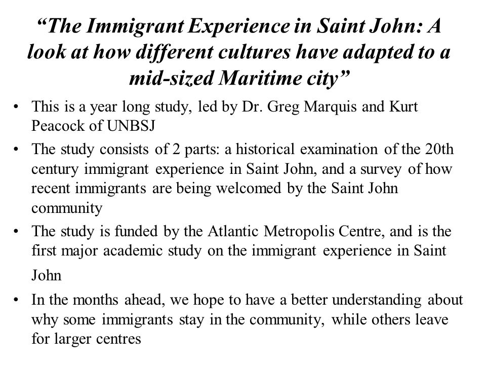 A key question: Why Saint John.