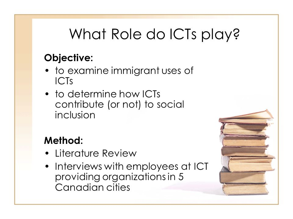What Role do ICTs play.