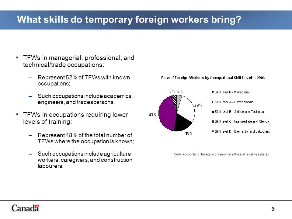 6 What skills do temporary foreign workers bring.