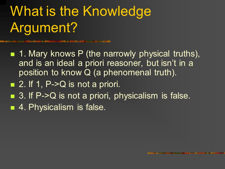 What is the Knowledge Argument.1.