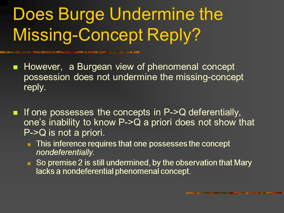 Does Burge Undermine the Missing-Concept Reply.