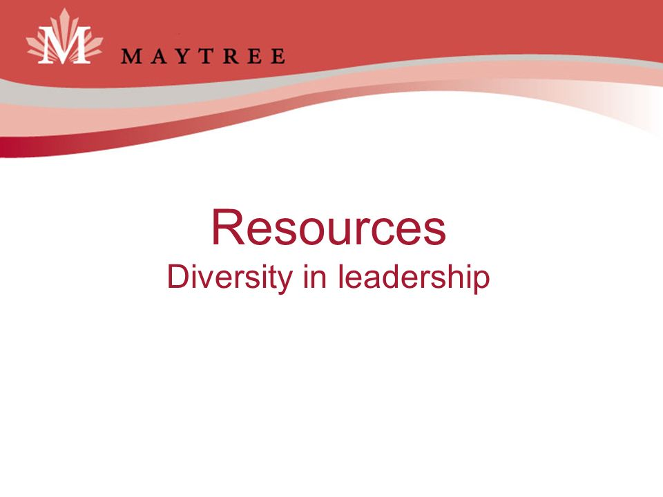 Resources Diversity in leadership