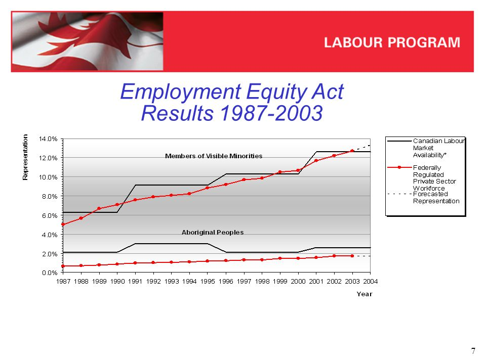 8 Employment Equity Act – Results 2003 *R refers to the percentage representation of the designated group.